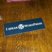 I Speak WordPress