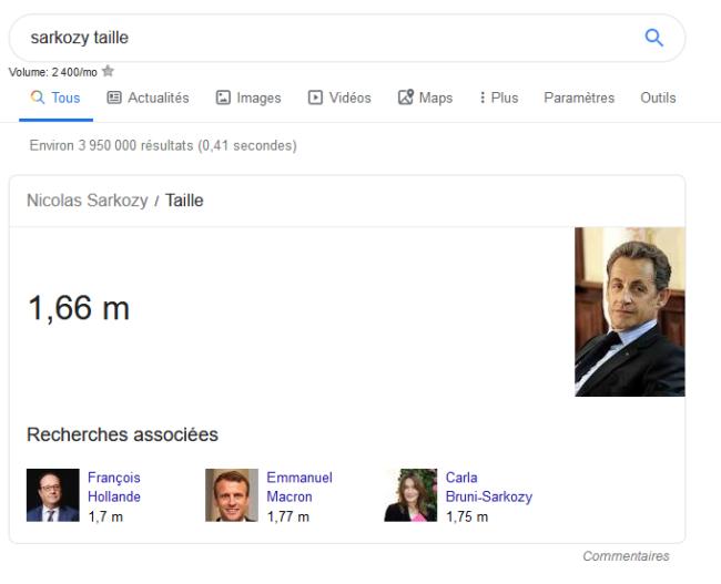 Des réponses données par Google
